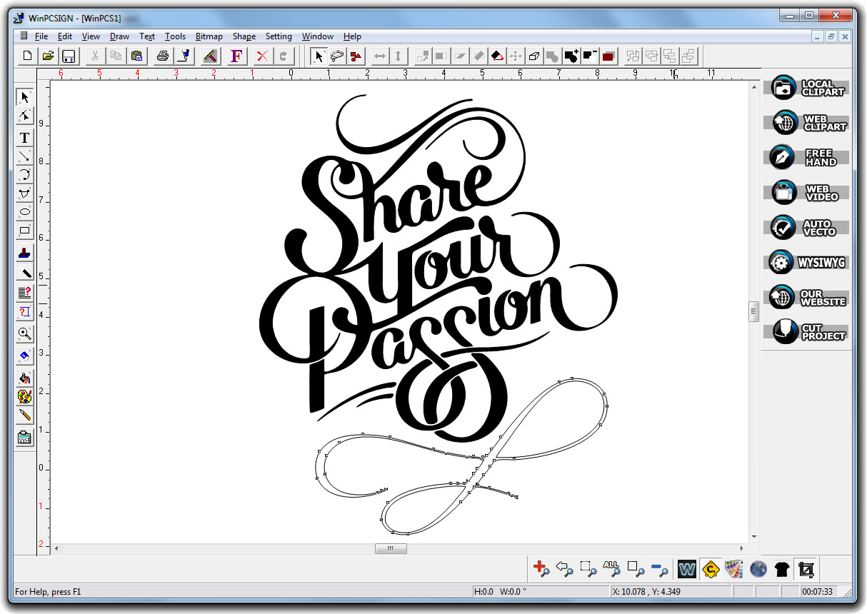 winpcsign cut a dedicated sign and lettering software With lettering design software