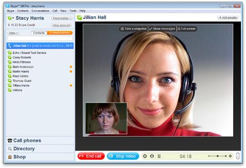 Support professionnel par Skype