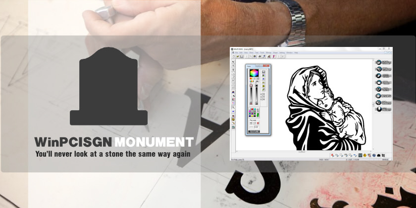 WinPCSIGN MONUMENT - You'll never look at a ston the same way again