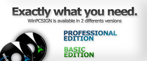 WinPCSIGN BASIC or PRO are exactly the cutting software you need