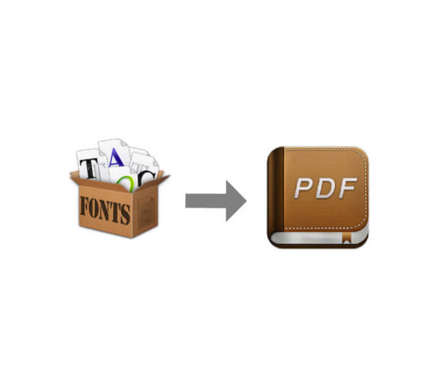 Create PDF fonts catalog