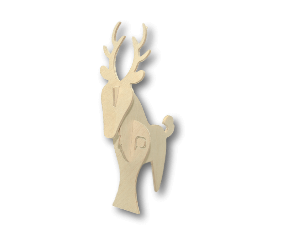 Exemple: Wood deer 3D-PUZZLE