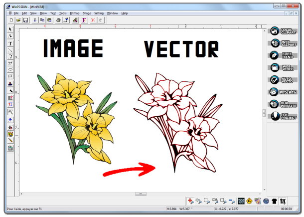 Convert images into cutting project